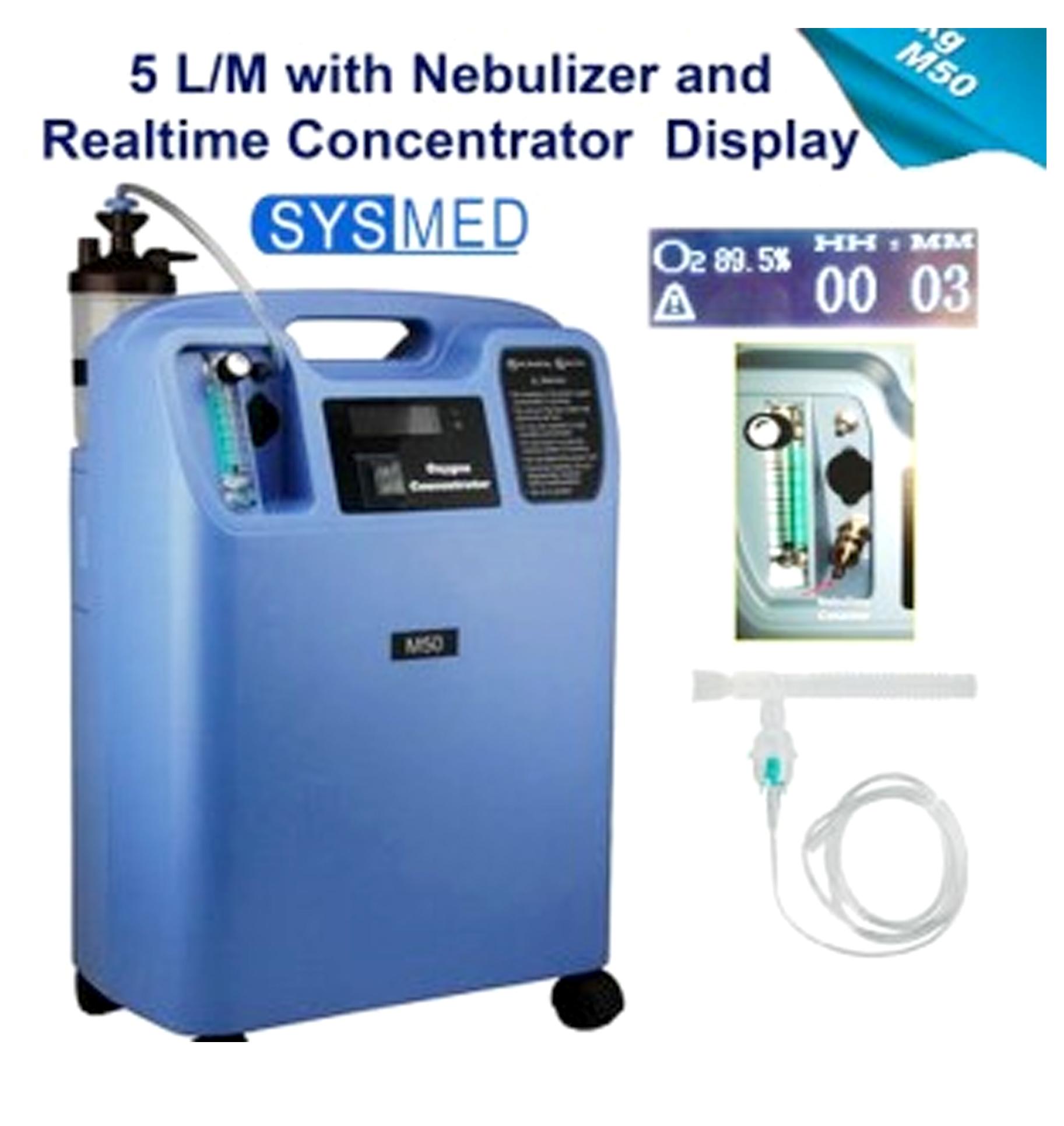 Oxygen Concentrator 5L/M with Nebulizer – Sysmed M50 – PT  Mandiri